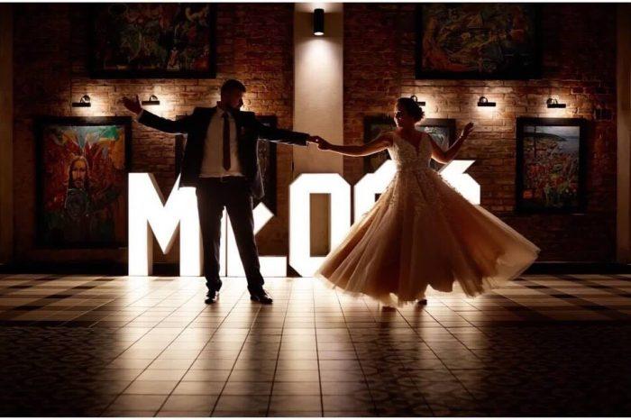 napis miłość na wesele