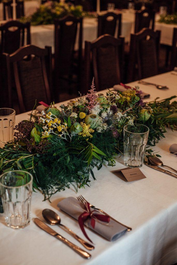 kompozycja na stół zieleń