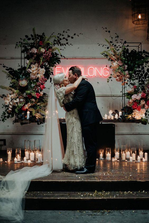 neonove wesele, napisy neonowe