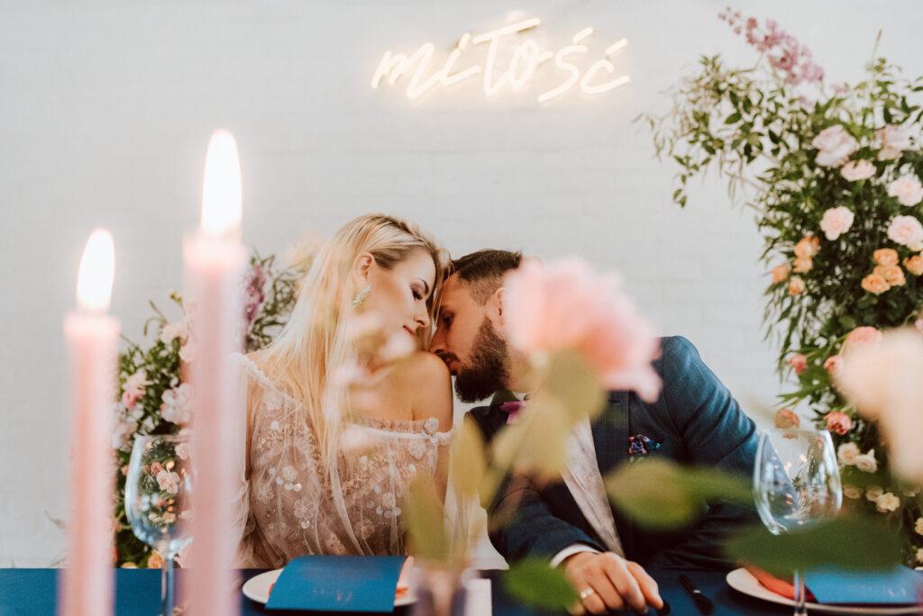 napisy ledowe na wesele