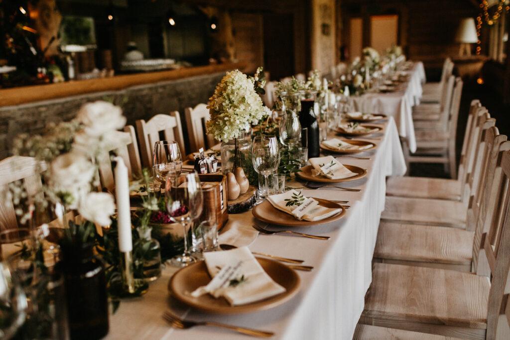 stół weselny, dekoracjeślubne
